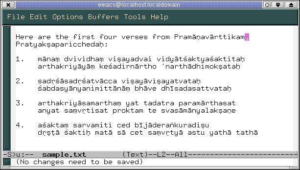 Sanskrit Unicode Text Processing